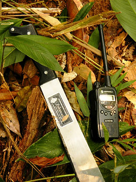 Ranger - machete and walkie talkie (Chri