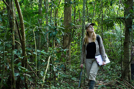 Fauna Forever Coordinator conducitng a primate survey in the Amazon