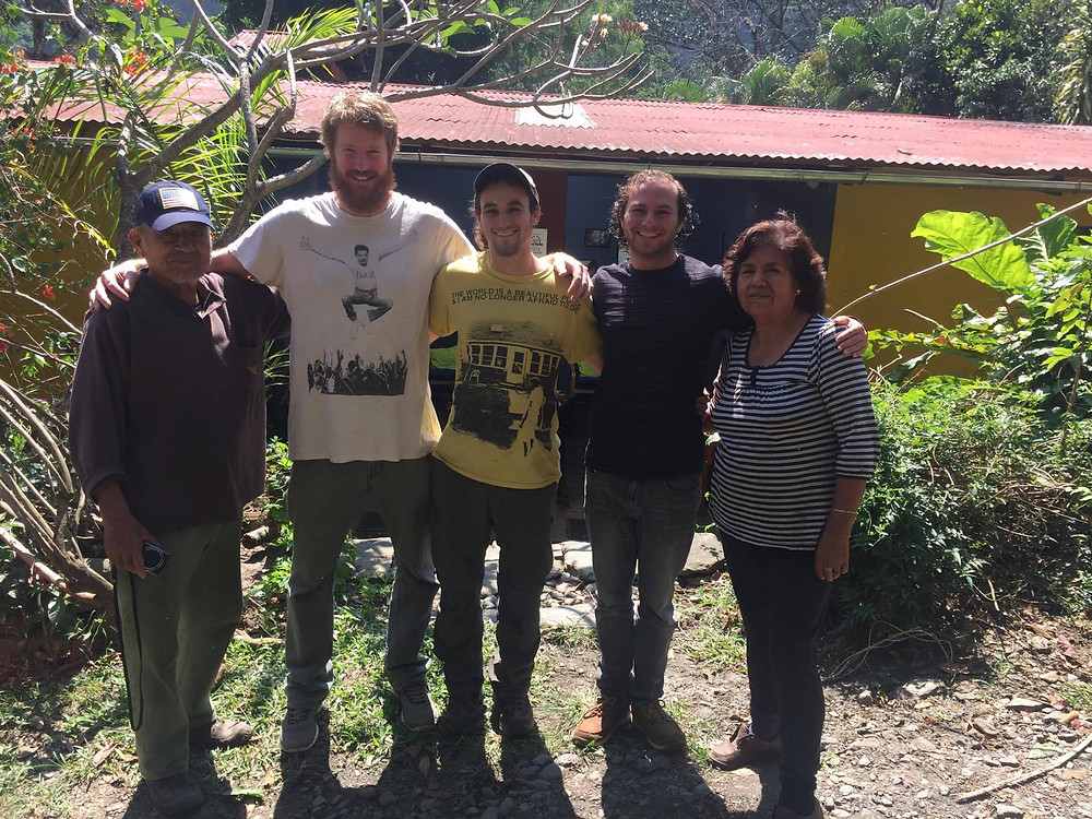 The team, from left to right: Don Angel Santillan (co-owner of Yellow River Homestay), me (Paul Kriedemann), Nathan Krauss, Jake Krauss, and Olga (co-owner of Yellow River Homestay)