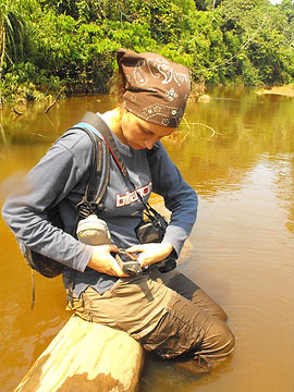 Ranger - GPS work in a river - small.JPG