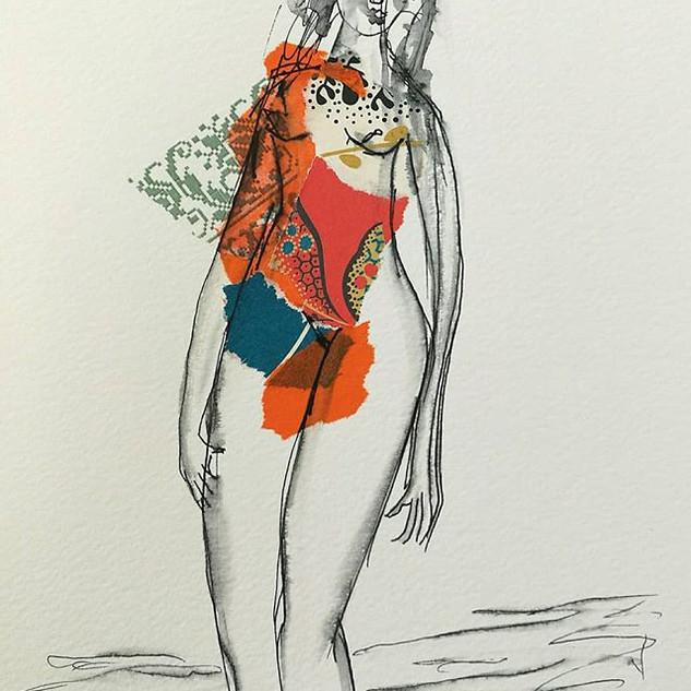 Marie-A04 🌾🌿_#collageart #artnude #nus