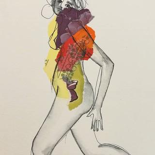 Mariana - Collages et encre sur papier 3