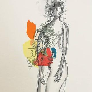 Aujourd'hui...🌾🌌_#collages #dessindenu