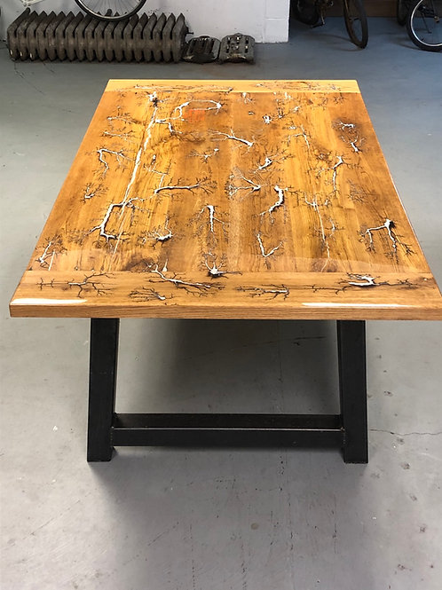 Captured Electricty Fractal Art Table