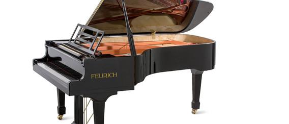 Feurich 218 Concert - Black/brass