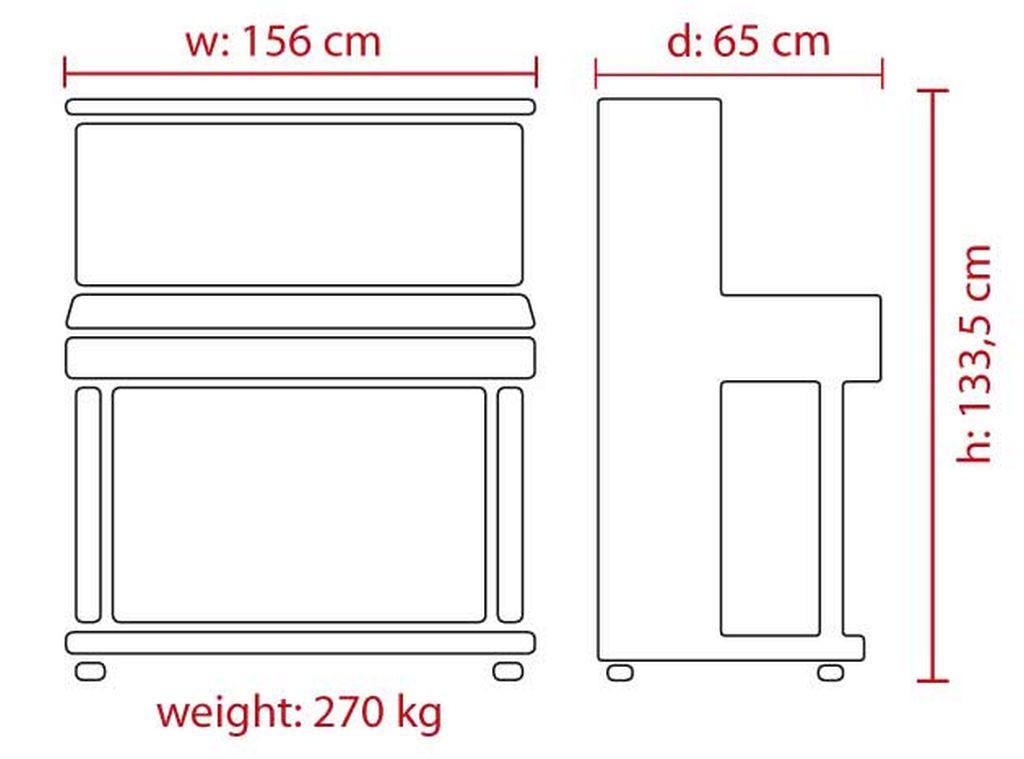 FEURICH 133 Concert - Dimensions