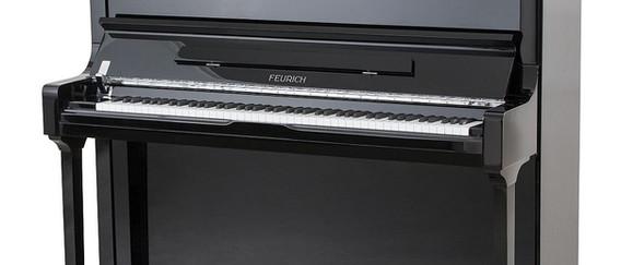 FEURICH 133 Concert - Black/Chrome LED