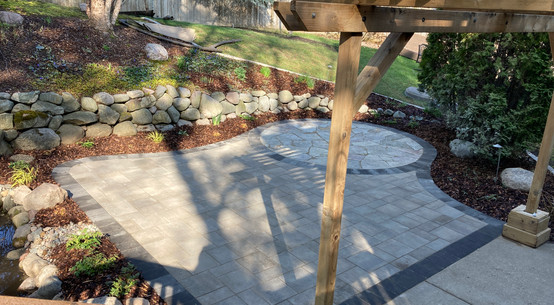 An after of a backyard designed by Angela