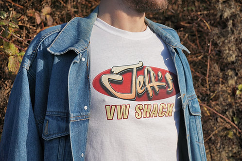 Jeff's VW Shack Logo T Shirt - WHITE