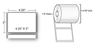 03-02-1523 Compatible Direct Thermal Pap