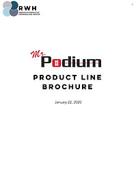RWH Web Product Brochure for Mr Podium P
