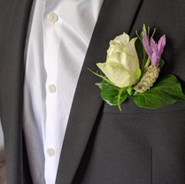 Rose and lavender buttonhole