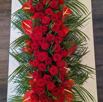 Rose and Anthurium casket