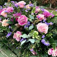 Rose, Chrysanthemum & fern casket
