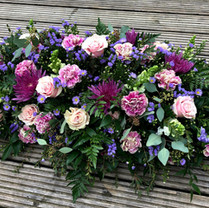 Rose, Chrysanthemum & fern casket