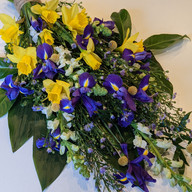 Purple and Yellow spring sheaf