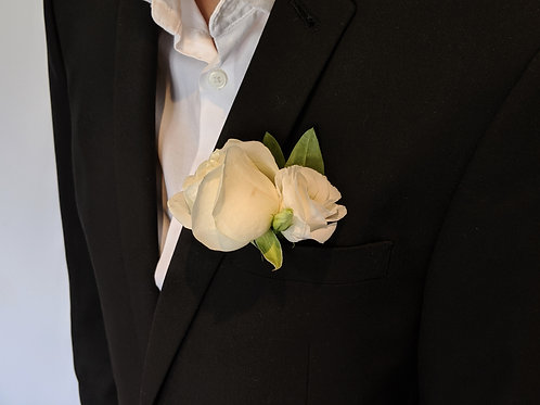wedding flowers buttonhole boutonierre groom buy flowers white rose eustoma