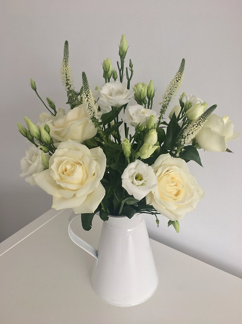 white flowers roses veronica buy flowers bouquet