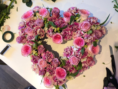 Make your own flower heart