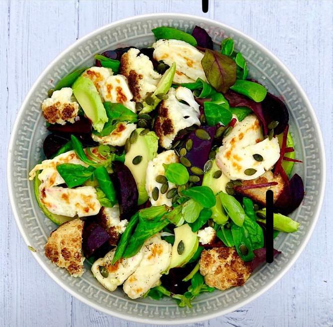 Halloumi, Cauliflower and Beetroot salad