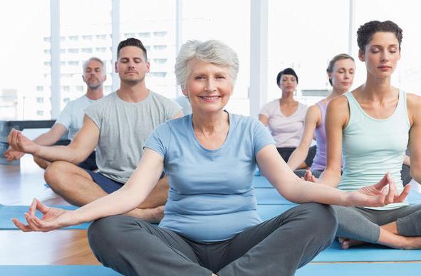 Over 50's yoga class
