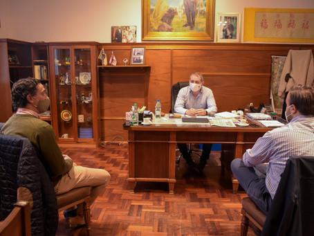Andrés Capretti se reunió con el intendente López
