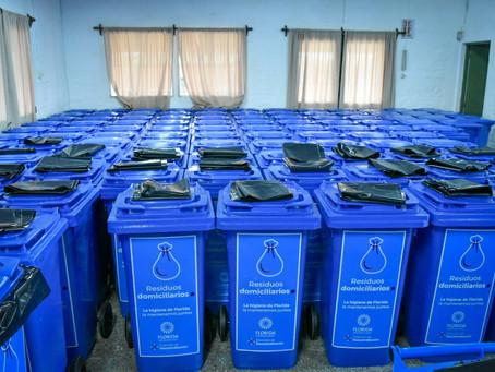 La IDF entregó 182 contendedores de residuos domiciliarios en Reboledo