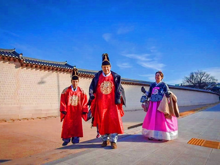 Hanbok wearing and photo taking.