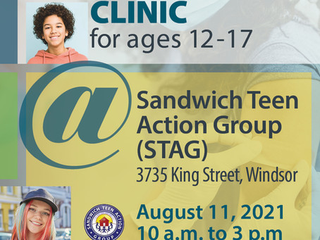 Vaccine Clinic at STAG Aug 11, 2021 (10am to 3pm)