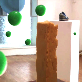 sculptural investigations using bouncy balls