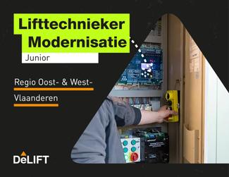 Vacature: (junior) lifttechnieker modernisatie regio Oost- & West-Vlaanderen