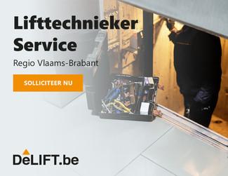 Vacature: Lifttechnieker service Regio Vlaams-Brabant