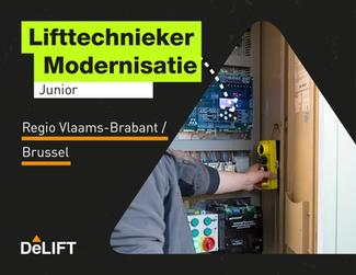 Vacature: (junior) lifttechnieker modernisatie regio Vlaams-Brabant / Brussel