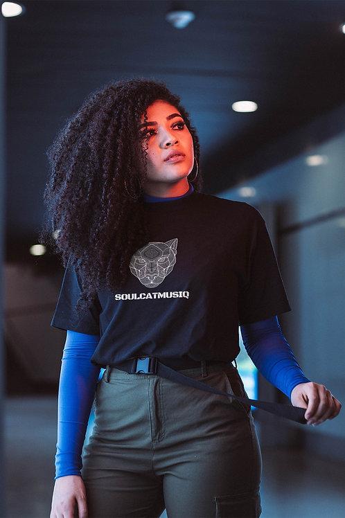 Soulcatmusiq Label Shirt Charcoal Grey, (Large)