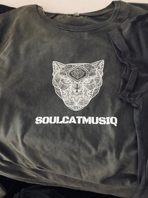 Soulcatmusiq Label Shirt Stone Grey, Washed (Medium, Women)