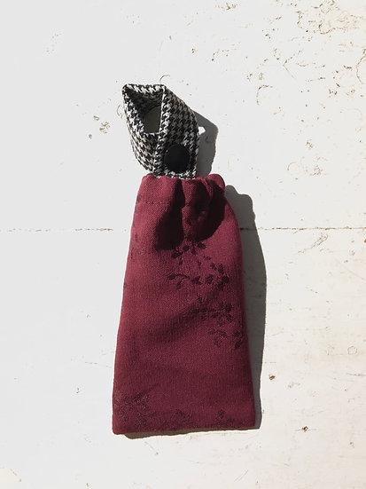 porta disinfettante piccolo bordeaux | pied de poule | bottone nero
