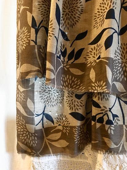 sciarpa cashmere | foglie