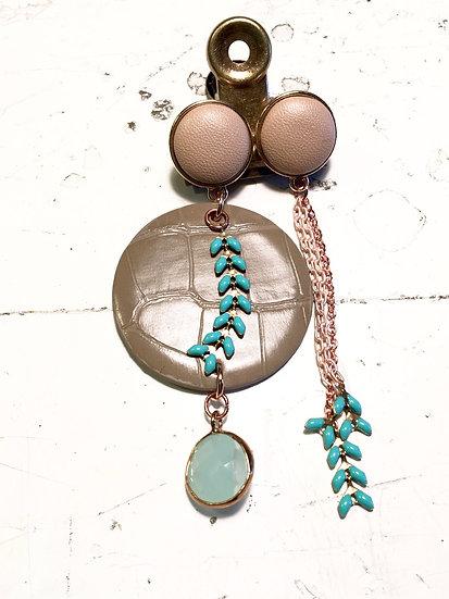 orecchini geometrici oro | turchese | sabbia
