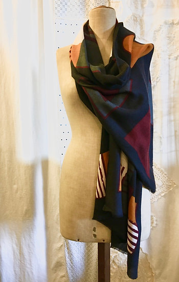 sciarpa cashmere | geometrico