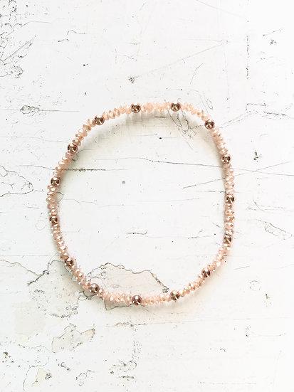 braccialetto elastico | rosa antico