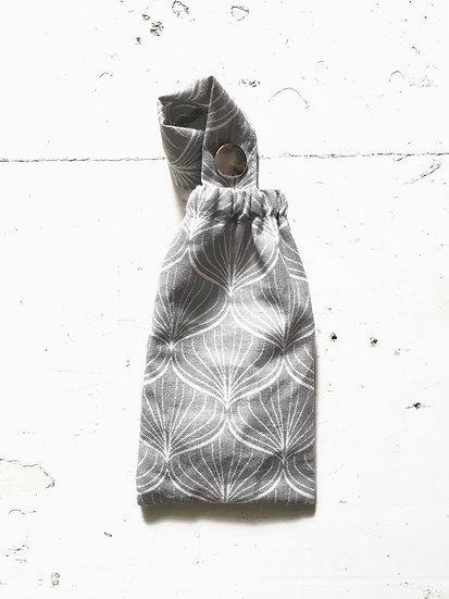 porta disinfettante piccolo | palmette grigio