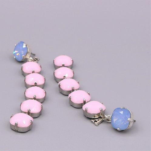 Earrings «ROSE QUARTZ & SERENITY»