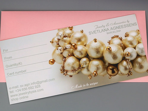 VIRTUAL «E-card Gift Certificate»