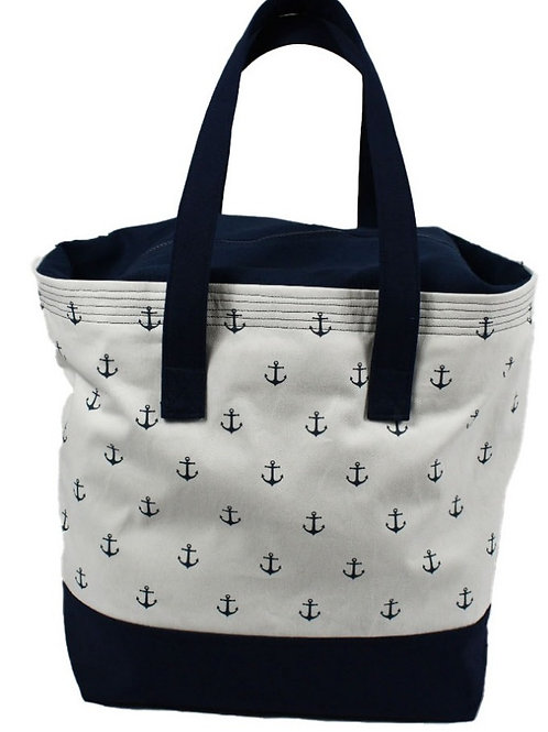 Anchor Tote Bag with Zipper Tote