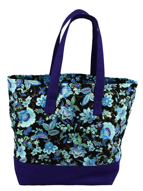 Purple Floral Tote Bag