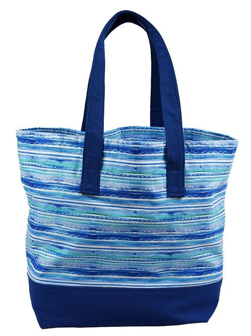 Blue Stripe Tote Bag