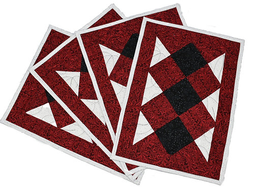 Red, Black and White Diamond  Placemats