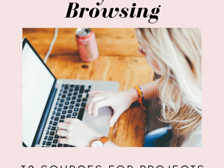 Library Vs. Web Browsing: 30 Sources for Projects