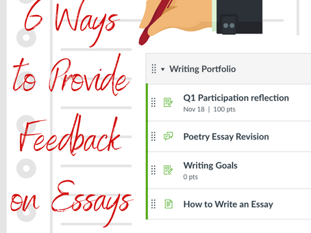 The Teaching of Writing:  Feedback and Revisions