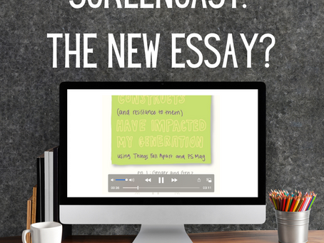 Screencast: The New Essay?